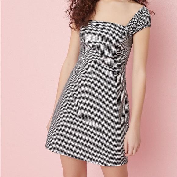 Gingham mini dress (Garage)